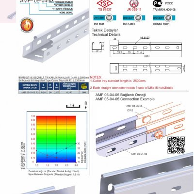 1 H40 W50 T05 Embossed & Integrated Cable Trays