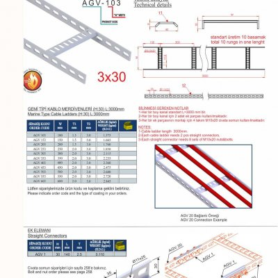 3_3x30 Marine Type Cable Ladder