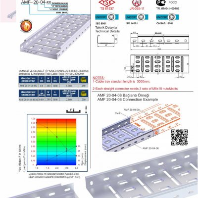 5 H40 W200 T08 Embossed & Integrated Cable Trays
